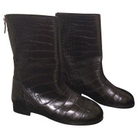 Chanel Boots in reptile leather
