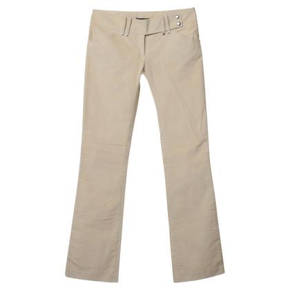 Patrizia Pepe Pantaloni di velluto in crema