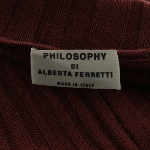 the latest cd507 c65f4 Philosophy di Alberta Ferretti top in dark red - Second Hand ...