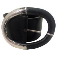 Joseph Black Leather Belt