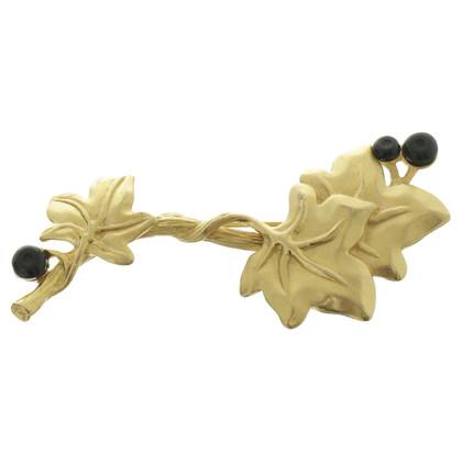 Givenchy Brosche mit Blättermotiv