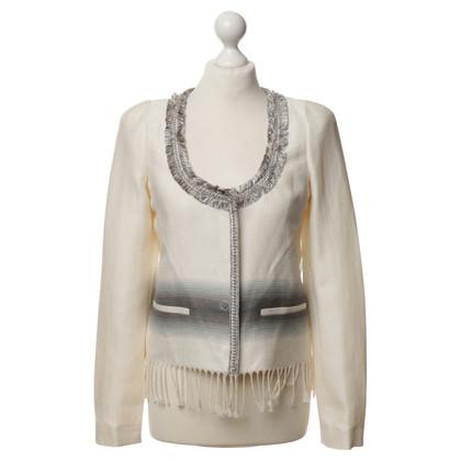 Patrizia Pepe Jacket with fringe and chain