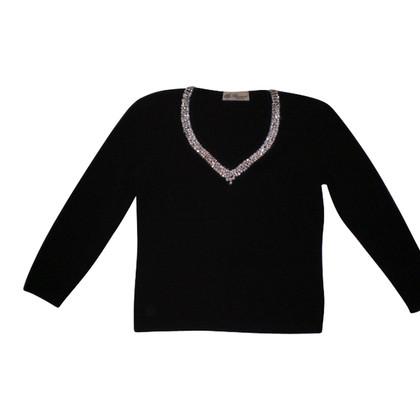 Blumarine Evening sweater with Rhinestone trim