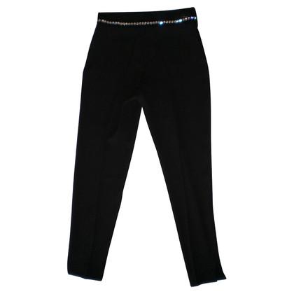 Blumarine Pantaloni con finiture di strass