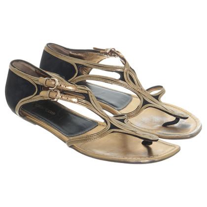 Sergio Rossi Sandals in gold metallic