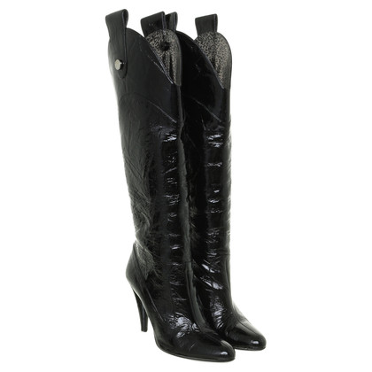 D&G Boots patent leather