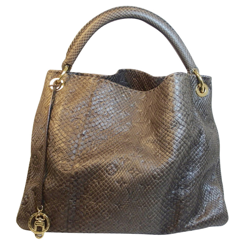 louis vuitton tasche artsy in python gris second hand louis vuitton tasche artsy in python. Black Bedroom Furniture Sets. Home Design Ideas