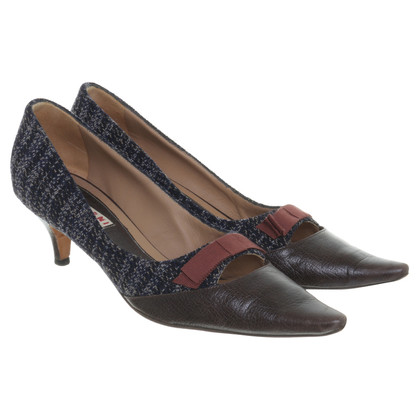 Marni pumps con mix di materiali