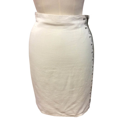 Gianni Versace Linen pencil skirt