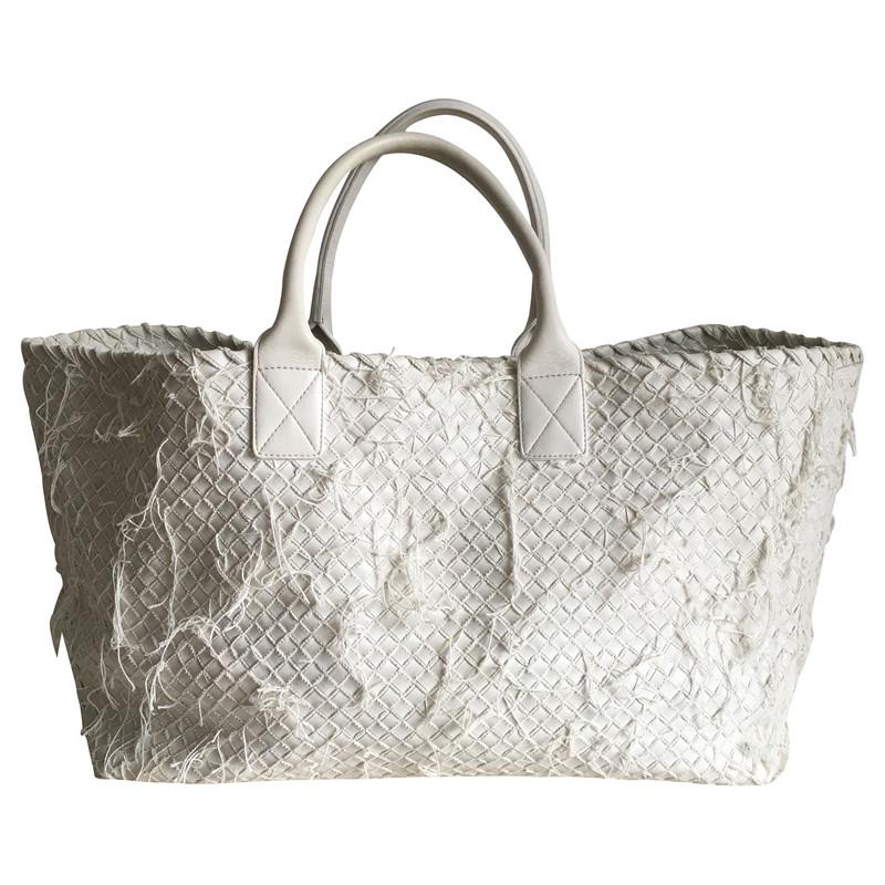 """Bottega Veneta Bag """"Cabat """" in White"""