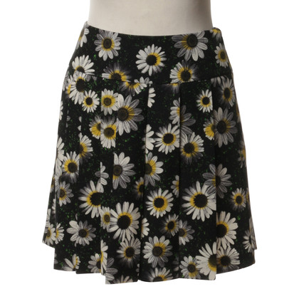 Moschino Cheap and Chic Pleated skirt with floral print