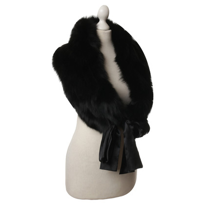 Other Designer Michelle - fur stole in black