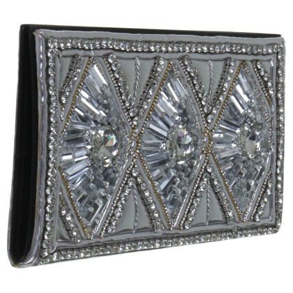 H&M (designers collection for H&M) Balmain for H & M clutch with semi-precious stones