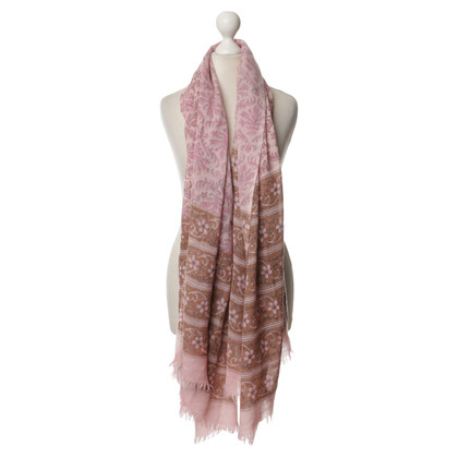 Antik Batik Schal in Rosa