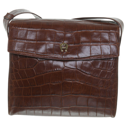Aigner Reptile-look shoulder bag