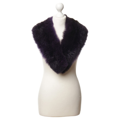 Escada Fur collar purple