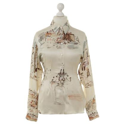 Hermès Zijde blouse met patronen