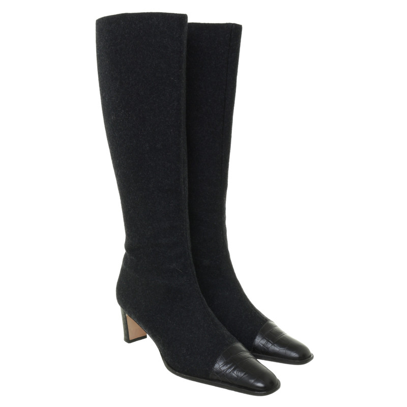 Escada Boots in dark grey