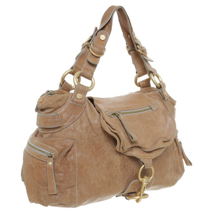 Hugo Boss Borsa in pelle beige