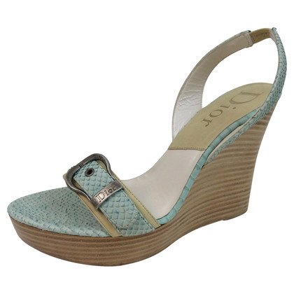 Christian Dior Wedges slang leder