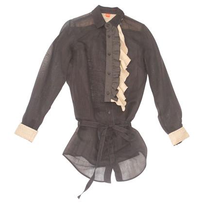 Hugo Boss Long blouse with belt