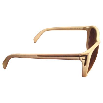 Fendi occhiali da sole crema