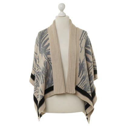 Patrizia Pepe Knit Cape with pattern