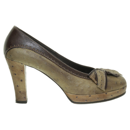 Henry Beguelin Pumps ostrich leather