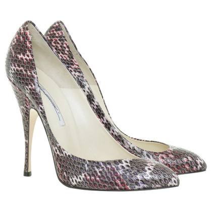 Brian Atwood Pumps snake leather
