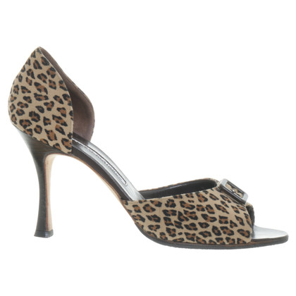 Manolo Blahnik Peeptoes im Animal-Look