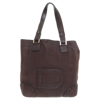 Delvaux Borsa a tracolla in marrone scuro