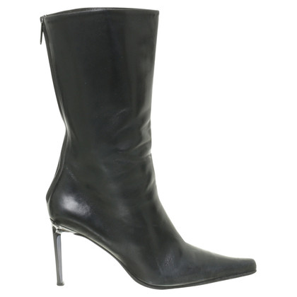 Gianmarco Lorenzi Black leather boot