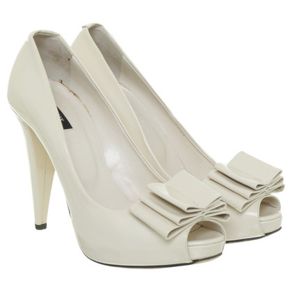 Bally Peeptoes in Creme