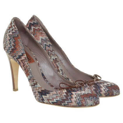 Missoni pumps met zigzag patroon