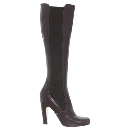Alaïa Leather boots with elastic insert
