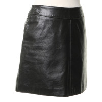Armani Jeans Leather skirt in dark brown
