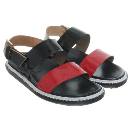 Marni Sandals in black and Red