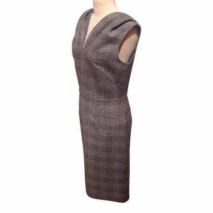 Christian Dior Abito in lana tartan