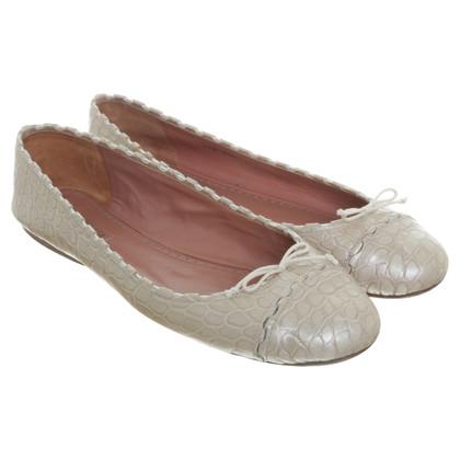 Alaïa Ballerina's gemaakt van krokodillenleer