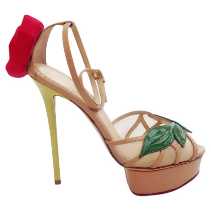 Charlotte Olympia Sandals with silk flowers