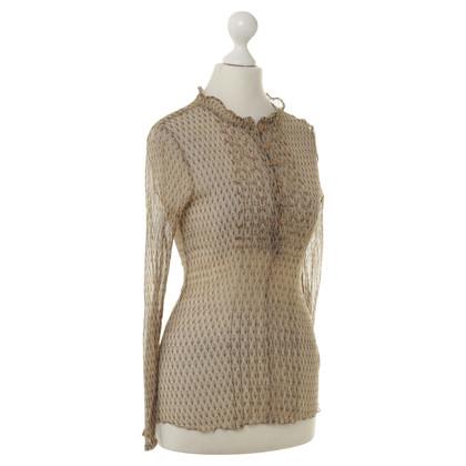Antik Batik Transparente Bluse mit Mustern