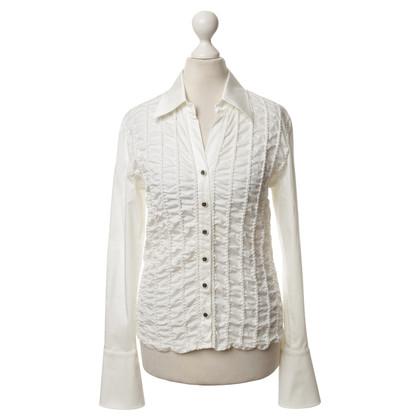 Escada White blouse with Ruffles