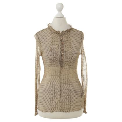 Antik Batik Transparante blouse met patronen