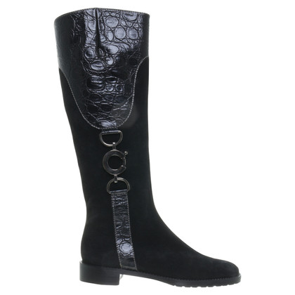 Konstantin Starke Boots accented with reptiles-look