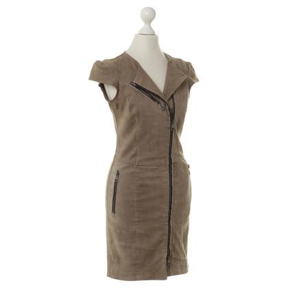 Vent Couvert Suède jurk in lichtbruin