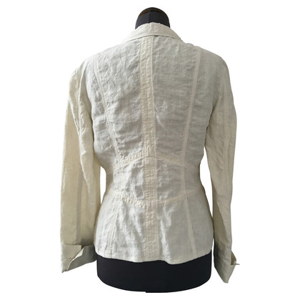 Marc Cain Linen Blazer in cream