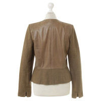 Riani Leather jacket with elements in lichens look