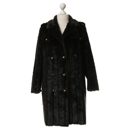 Lanvin for H&M Art fur coat in Brown