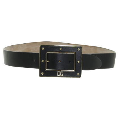 D&G Black gold buckle belt
