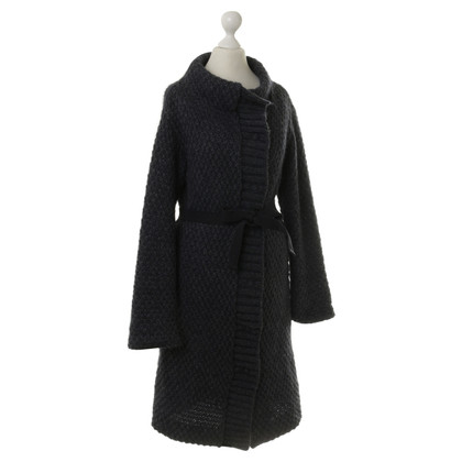 Patrizia Pepe Gebreide jas in donkerblauw